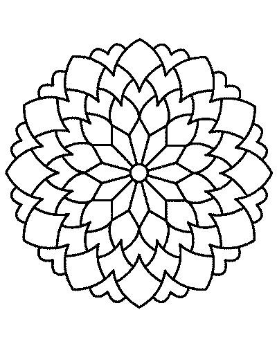 Coloriage mandala fleurs multi p tales dessin gratuit imprimer - Coloriage fleur 8 petales ...