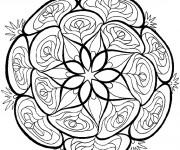 Coloriage et dessins gratuit Mandala Fleurs Potager vecteur à imprimer
