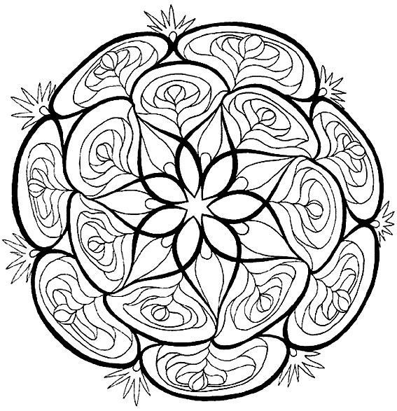 coloriage mandala fleurs potager vecteur dessin gratuit imprimer. Black Bedroom Furniture Sets. Home Design Ideas