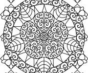 Coloriage Mandala Fleurs Superbe