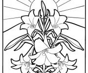 Coloriage et dessins gratuit Mandala Fleurs vectoriel à imprimer