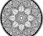 Coloriage Mandala Roses en couleur