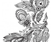 Coloriage et dessins gratuit Plante de Fleur Mandala couleur à imprimer