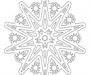 Coloriage Mandala Flocon