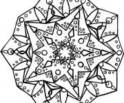 Coloriage Dessin Mandala Flocon de Neige