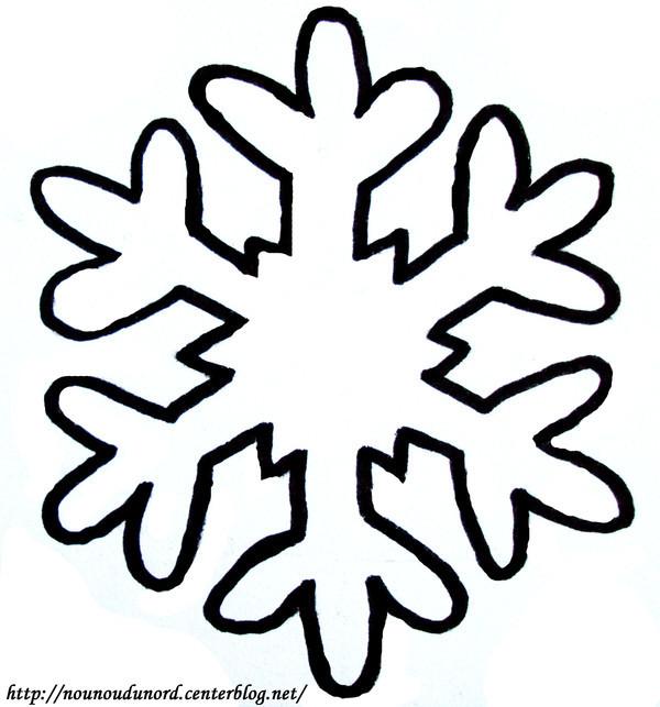 Coloriage flocon de neige dessin gratuit imprimer - Dessin de neige ...