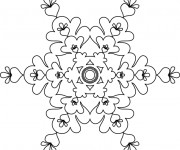 Coloriage dessin  Flocon de Neige 40
