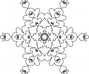 Coloriage et dessins gratuit Flocon de Neige artistique à imprimer