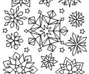 Coloriage et dessins gratuit Flocons de Neige crystalisés à imprimer