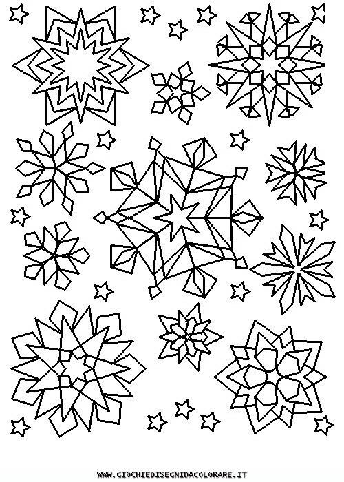 Coloriage et dessins gratuits Flocons de Neige crystalisés à imprimer