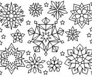 Coloriage et dessins gratuit Flocons de Neige en couleur à imprimer