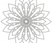 Coloriage et dessins gratuit Mandala Fleur en noir à imprimer