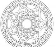 Coloriage dessin  Mandala Flocon 10