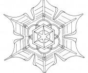 Coloriage dessin  Mandala Flocon 11
