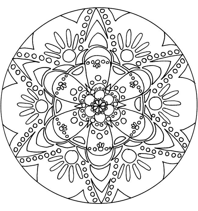 Coloriage mandala flocon 38 dessin gratuit imprimer - Dessin flocon de neige facile ...