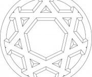 Coloriage et dessins gratuit Mandala Flocon 3D à imprimer