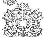 Coloriage dessin  Mandala Flocon 4
