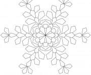 Coloriage dessin  Mandala Flocon 6
