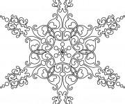 Coloriage dessin  Mandala Flocon 8