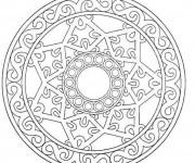Coloriage et dessins gratuit Mandala Flocon à colorier à imprimer