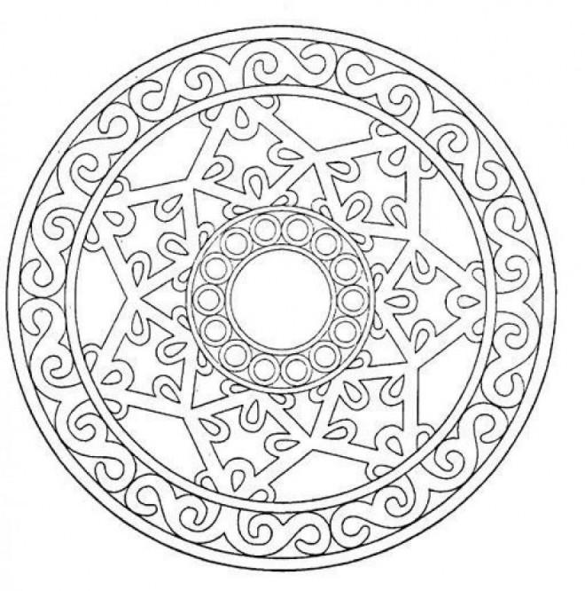 Coloriage et dessins gratuits Mandala Flocon à colorier à imprimer