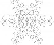 Coloriage et dessins gratuit Mandala Flocon à découper à imprimer