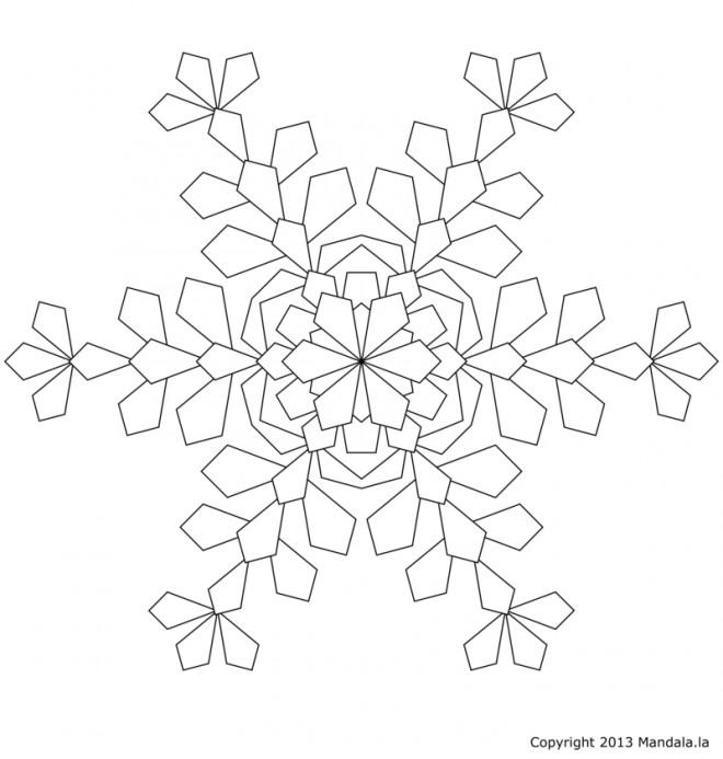 Coloriage et dessins gratuits Mandala Flocon à découper à imprimer
