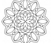 Coloriage Mandala Flocon Adulte sur ordinateur