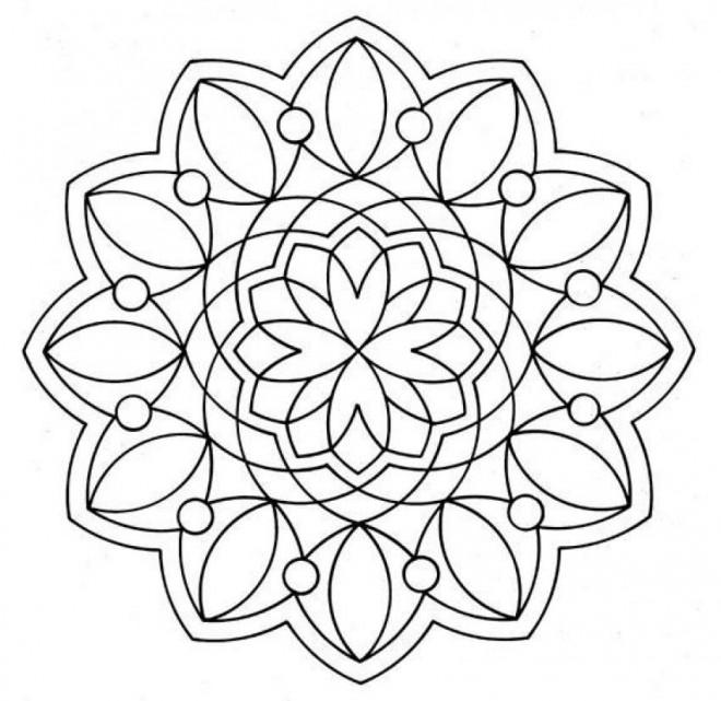 Coloriage et dessins gratuits Mandala Flocon Adulte sur ordinateur à imprimer