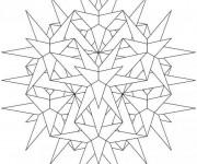 Coloriage Mandala Flocon Cubique