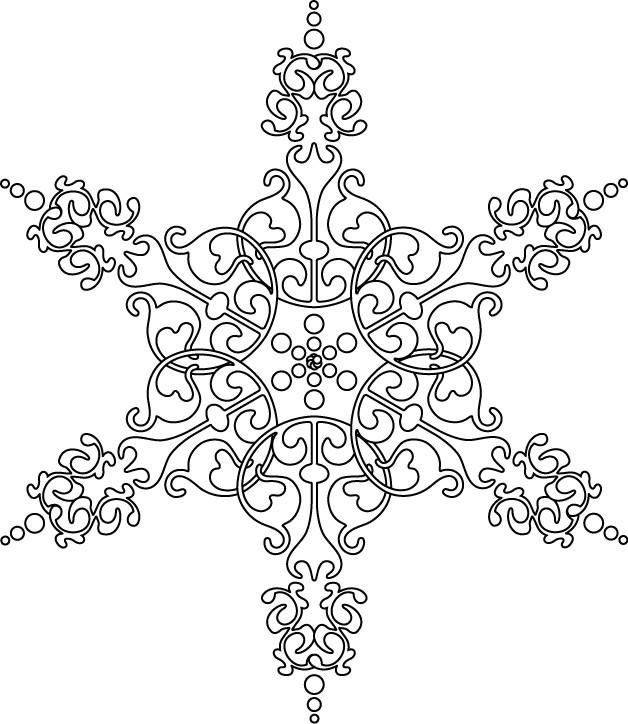 Coloriage mandala flocon difficile en noir dessin gratuit imprimer - Flocon dessin ...