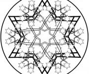 Coloriage Mandala Flocon en Étoiles