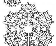 Coloriage Mandala Flocon en hiver