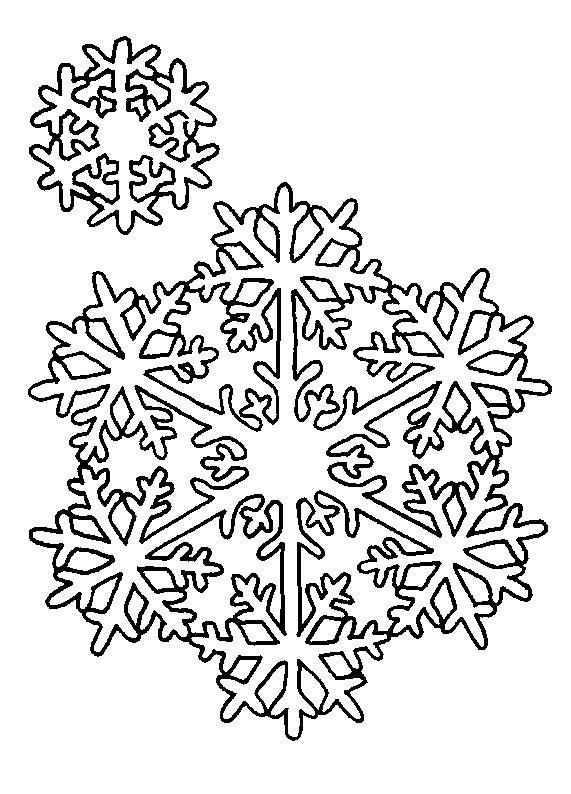 Coloriage et dessins gratuits Mandala Flocon en hiver à imprimer
