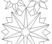 Coloriage et dessins gratuit Mandala Flocon en Ligne à imprimer