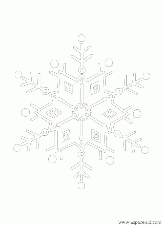 Coloriage et dessins gratuits Mandala Flocon simple à imprimer