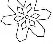 Coloriage Mandala Flocon Simplifié