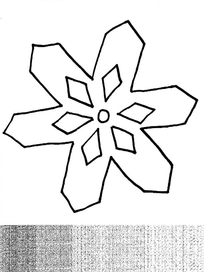 Coloriage et dessins gratuits Mandala Flocon Simplifié à imprimer
