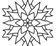 Coloriage et dessins gratuit Mandala Flocon vecteur à imprimer