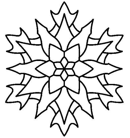 Coloriage mandala flocon vecteur dessin gratuit imprimer - Coloriage fleur edelweiss ...