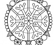 Coloriage et dessins gratuit Mandala Hiver à imprimer