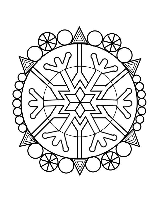Coloriage Mandala Hiver Dessin Gratuit à Imprimer