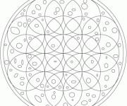 Coloriage Mandala Hiver à compléter