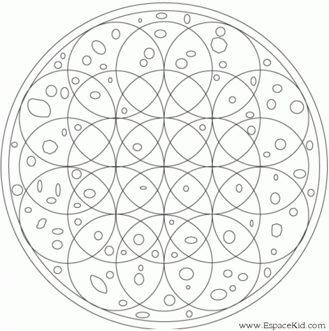 Coloriage Mandala Hiver.Coloriage Mandala Hiver A Completer