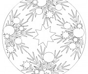 Coloriage Mandala Sapin de Noel