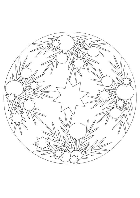Coloriage mandala sapin de noel dessin gratuit imprimer - Coloriage de mandala de noel ...