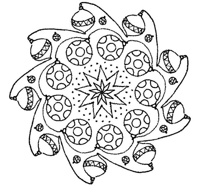 Coloriage et dessins gratuits Art Boule de Noel à imprimer