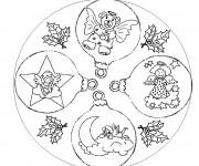 Coloriage et dessins gratuit Boule de Noel et Les Anges à imprimer