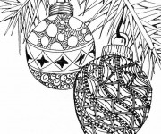 Coloriage et dessins gratuit Boules de Noel Adulte à imprimer