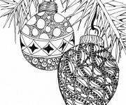 Coloriage Mandala Noel